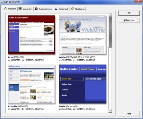Webdesigns web to date 6.0