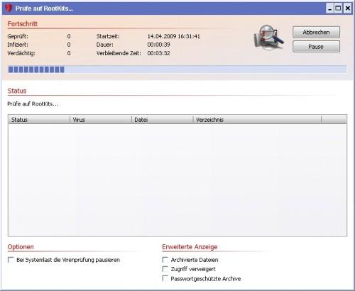 rootkit scan