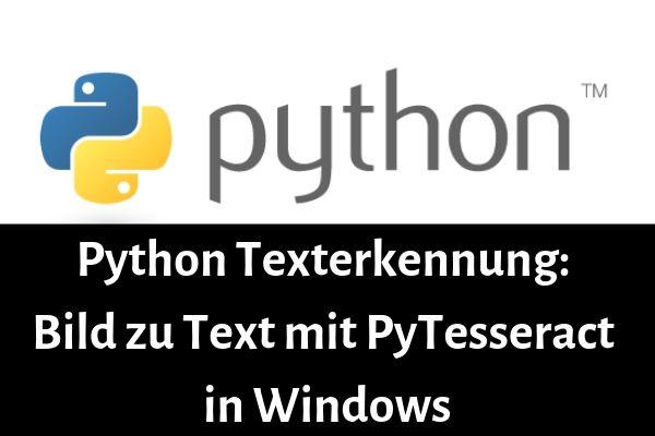 python texterkennung